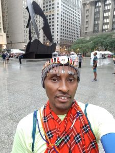 Figure 16 Ero Maasai..Cultural run pre Chicago marathon