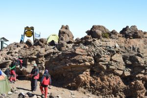 David Thuo Climbing Mt Kilimanjaro